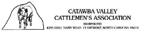 Catawba Valley Cattlemen's Association banner