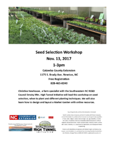 Cover photo for Seed Selection Workshop