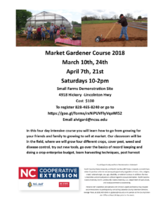 Cover photo for 2018 Market Gardener Class