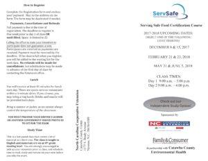 Servsafe brochure front