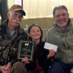 4-H Livestock Judging Winner receiving an award