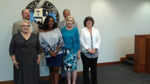 Youth council member with NC County Commissioners