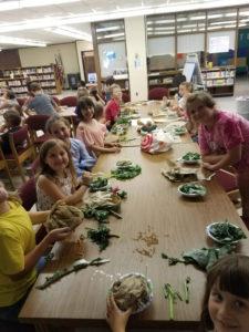 children with salads