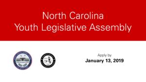 Youth Legislative Assembly deadline card