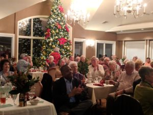Farm City dinner in front of the Christmas Tree at the Country Club