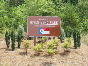 Image of River Bend Park sign