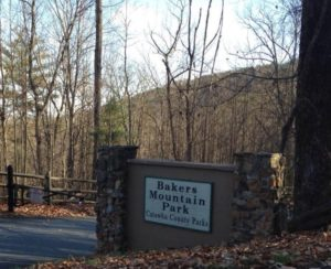 Image of Bakers Mountain Park sign