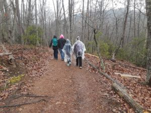 4-H club participants hiking