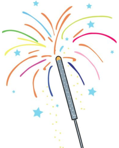 Drawing of a sparkler