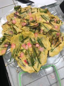 Korean vegetable pancakes