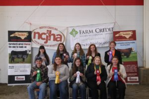 Cover photo for NC Junior Hereford Association, Judging in January