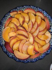 open peach pie