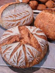 whole wheat artisan sourdough bread