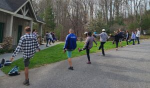 Tai Chi and hike session at Baker's Mt