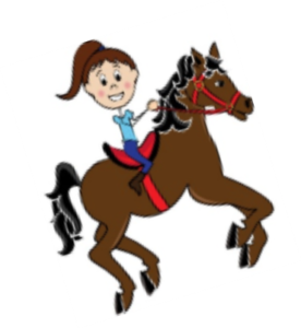 Drawing of a girl on a horse
